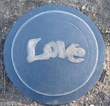 Gostatue MOLD LOVE simple stepping stone plastic mold Good for Valentine Day too