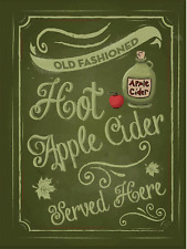 Hot Apple Cider Metal Sign Metal Sign, Rustic, Kitchen Décor, Autumn, Fall