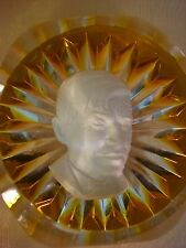 CRISTAL D'ALBRET PAPERWEIGHT A. DAVID PARIS 1966 SULFIDE FRANCE CUT CRYSTAL