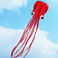 4m single Line Stunt RED Octopus POWER Sport Kite Outdoor Sports Toys ZJ01