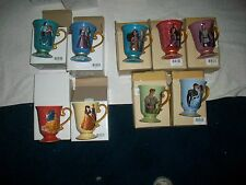 Disney Designer Fairytale Couple Collection Mug Set of all 10 SOLD OUT!
