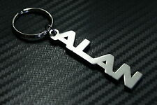 ALAN Personalised Name Keyring Keychain Key Fob Bespoke Stainless Steel Gift