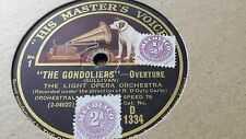 LIGHT OPERA ORCHESTRA THE GONDOLIERS OVERTURE HMV D1334