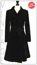 VINTAGE BLACK VELVET COAT GOTHIC STEAMPUNK MISTRESS MILITARY SPY QUIRKY VAMP 10