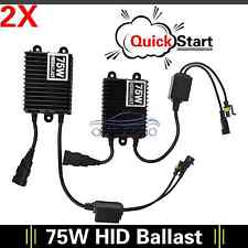 2pcs Fast Start 75W HID Ballast Replacement Universal for Xenon HeadlightHID Kit