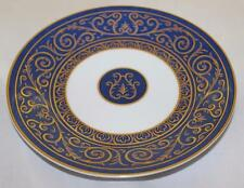 Philippe Deshoulieres FRANCE Accent Bread Plate, Blue, Gold Scrolls Limoges IP45