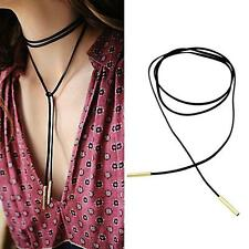 5mm Gold Tube Black Faux Suede Cord String: Wrap Around Tie Ribbon Choker