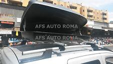 BOX AUTO PORTAPACCHI PORTATUTTO G3 ALL-TIME 480+BARRE FIAT QUBO 2014 CON RAILS