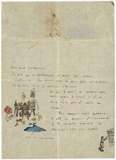 Antoine de SAINT-EXUPÉRY Lettre, illustrée de cinq croquis, adressée à Henry Gui