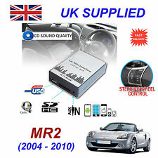 TOYOTA MR2 04-10 MP3 SD USB CD AUX Input Audio Adapter Digital CD Changer Module