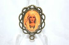 Custom Bronze Rosary Center Part/Color /Rosary Making/Blessed Virgin Mary #03