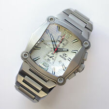 NEW $800 REACTOR 45.5 X50MM SS SILVER DIAL NUCLEUS CHRONOGRAPH 100M WATCH #57002
