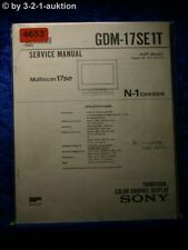 Sony Service Manual GDM 17SE1T Color Graphic Display (#4653)