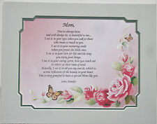 Personalized Poem for Mom ** Mother's Days and Birthday Gift Idea **L@@K**