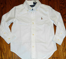 POLO RALPH LAUREN TODDLERS/KIDS BOYS BRAND NEW WHITE DRESS SHIRT/TOP Sz 3T, NWT