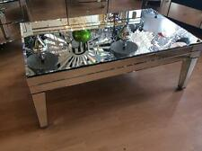Large Venetian Glass, Mirrored Coffee Table, Bevelled Glass Table