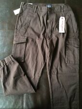 Nwt Levis Banded Cargo Slim Fit Tapered Leg Khaki Pants Men's 36 X 32 Brown }