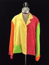 Camille & Co jacket size 2XL multi color patchwork vintage 1980s color block