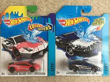 HOT WHEELS 2016 Lamborghini Gallardo LP570 Superleggera Color Shifters Set of 2