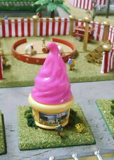HO SCALE TRAIN CARNIVAL CIRCUS STRAWBERRY ICE CREAM CONCESSION STAND