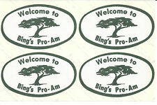 "Vintage Bing Crosby Pro-Am Pebble Beach Stickers  ""Welcome to Bing's Pro-Am"""