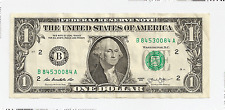 Federal Reserve Note One Dollar ~ Book End Bank Note ~ 2013