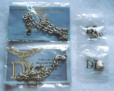 DIAMONDS INTERNATIONAL CARIBBEAN 2 CHARM BRACELETS AND 2 CHARMS - NEW IN PACKAGE