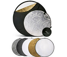 """43"""" 110cm 5-in-1 Photo Multi Collapsible Light Reflector Disc Set"""