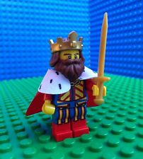 Lego CLASSIC KING Minifigures Castle Kingdoms Crown Cape Sword 71008 Series 13
