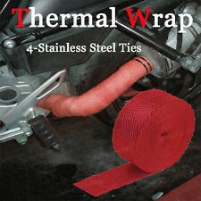 """2"""" x 15M Manifold Header Exhaust Thermal Heat Tape Wrap Motorbike Red Fit Nissan"""