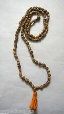 Tulsi Knotted Beads Japa Mala Necklace- Prayer Yoga Meditation Classy Hinduism 1