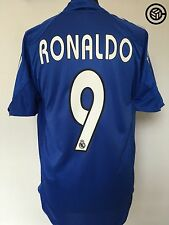 RONALDO #9 Real Madrid Adidas Third Football Shirt Jersey 2004/05 (M)