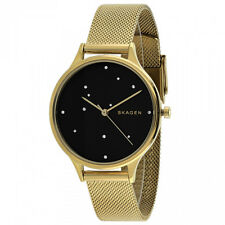 "Skagen SKW2385 Anita ""Night Sky"" Crystal Dotted Dial Goldtone Mesh Womens Watch"
