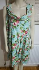NEW LADIES JOE BROWN LIGHT BOLD FLORAL TIE BACK COTTON DRESS SIZE UK 24 WEDDING