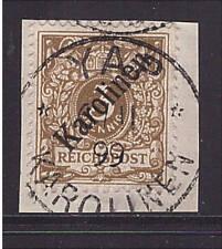 Karolinen, Mi-Nr. 1 I, gestempelt YAP 6/11 99, Luxus Briefstück, geprüft (21073)