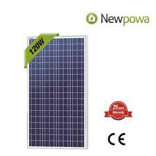 NewPowa High efficiency 120W 12V Polycrystalline Solar Panel Module RV Marine