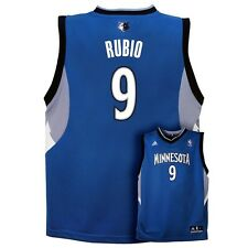 (2016-2017) Minnesota Timberwolves RICKY RUBIO nba ADIDAS Jersey YOUTH (L-LARGE)