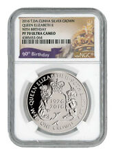 2016 Cunha 1 Crown 1oz Silver Queen Elizabeth II 90th Birthday NGC PF70 SKU40618