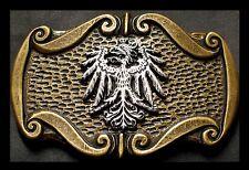 PREMIUM Gürtelschnalle NEU Wappen ALTMESSING Bundesadler ADLER Trachtengürtel 1A