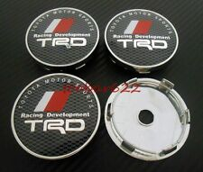 Car Tyre Wheel Center Hub Caps Rims Trd Carbon fiber 60mm Badge Clips t#449