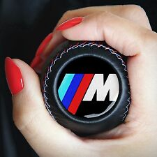 BMW M POWER GEAR STICK SHIFT KNOB E60 E90 E92 E91 E46 E39 M3 M5 M6 LEATHER NEW
