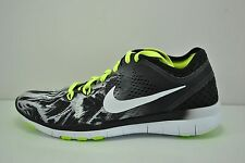 Womens Nike Free 5.0 TR FIT 5 PRT Running Shoes Size 7 Black White 704695 014