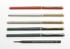 Pelikan 5 roller pens, vintage 1980, enamel and steel barrel and cap, new stock