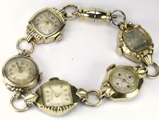 WOW Steampunk Antique One of Kind Custom Made Watch Bracelet NOT RUNNING FREE SH