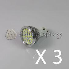 3 x Bombilla 24 LED SMD 5050 GU10 Blanco Frio 220V Bajo Consumo! Equiv. 50W puro