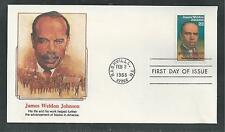 # 2371 JAMES WELDON JOHNSON, BLACK HERITAGE 1988 Fleetwood First Day Cover