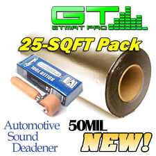 NEW 25sqft GTmat Pro 50mil Automotive Sound Deadener w/ Genuine Dynamat Roller