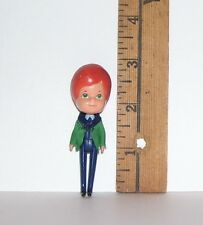 VINTAGE SMALL MATTEL LITTLES 1980S DRESSED BOY DOLL GOOD CONDITION AS SHOWN