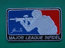 Lot 10 insigne tissu patch écusson moral badge Major League Infidel Airsoft Army