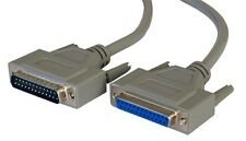 3m 25 Pin DB25 Male/Female M/F Extension Cable Parallel Printer RS232 PC Serial